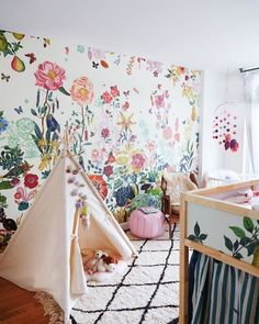 adorable nursery wall paper
