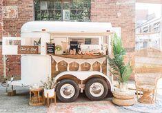 1975 King Horse Trailer converted into a #mobilebar Mobile Bar, Mobile Shop, Stock Trailer, Coffee Trailer, Mobile Catering, Flower Cart, Coffee Carts, Mobile Boutique, Diy Bar