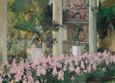 Wallflowers of the garden of the Sorolla House (1918)