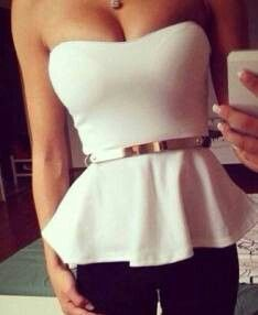 Blusa en blanco