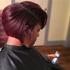 http://www.shorthaircutsforblackwomen.com/natural_hair-products/ Gorgeous #haircolor on this bob.   Learn how to grow your hair thicker & longer with DIY tips for treatment & remedies. Products like coconut oil masks & healthy hair supplement recipes, secrets that work quickly to stimulate hair growth.