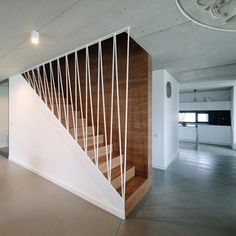 Corredores, halls e escadas minimalistas por BASK grupa projektowa Entrance, Stairs, Interior Design, Room, Furniture, Home Decor, Ideas, Design Ideas, New Houses