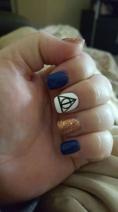 Harry potter nails ravenclaw pride