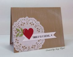 TLC564 Christmas Heart - Rescued Discards!