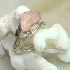 Hey, I found this really awesome Etsy listing at https://www.etsy.com/il-en/listing/178913735/rose-quartz-ring-rose-quartz-pebble-love