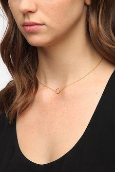 Urban Outfitters - Adina Reyter Tiny Circle Necklace