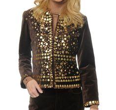 DG2 Sequin and Bead Embellished Velvet Jacket