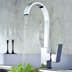 Modern Brass Single Handle Single Hole Kitchen Faucet Wall Mounted Torneira Cozinha Mixer Hot and Cold Mixer Kitchen Tap