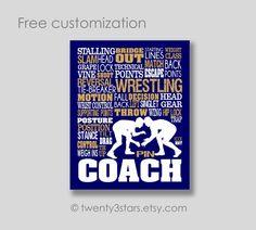 Wrestling Typography Canvas or Art Print Boys Room by twenty3stars