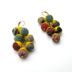 Kantha Collection - Berry Earrings