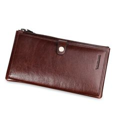 Guaranteed 100% + Genuine leather clutch wallets MB1039A,Designer wallets +Famous brand Manbang + Free shipping $79.80