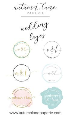 Wedding Logo - Wedding Branding - Wedding Brand Identity - Themed Wedding - DIY Wedding - Premade Wedding Logo - Wedding Invitation Logo - AutumnLanePaperie - Autumn Lane Paperie