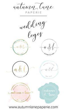Wedding Logo - Wedding Branding - Wedding Brand Identity - Themed Wedding - DIY Wedding - Premade Wedding Logo - Wedding Invitation Logo - AutumnLanePaperie - Autumn Lane Paperie