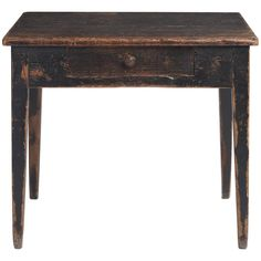 Primitive Side Table with Drawer, circa 1890