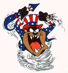 TAZ Patriotic Uncle Sam... err... Uncle TAZ!