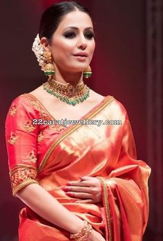 Hina khan in heavy kundan emerald choker, celebrity jewellery, kundan jhumkas Sabyasachi Lehenga Cost, Bridal Lehenga Choli, Indian Beauty Saree, Indian Sarees, Ethnic Sarees, Indian Dresses, Indian Outfits, Kanjivaram Sarees, Banarasi Suit