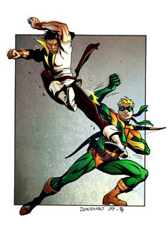 Green Arrow (my favorite green arrow that seems to have been removed from continuity by the new by Derec Donovan and Simon Gough Superhero Characters, Dc Comics Characters, Kids Mania, Arrow Comic, Comic Art, Comic Books, Arrow Black Canary, Legion Of Superheroes, Deadshot