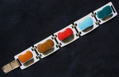 Vintage *KAY DENNING* Copper and Hand Painted Enamel Bracelet (04/21/2015)