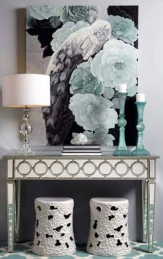 Our exclusive mirrored console table defines sophistication with its modern design. Add some glamour to your next dinner party with Z Gallerie. Living Room Furniture, Living Room Decor, Muebles Shabby Chic, Entryway Decor, Foyer, Entryway Console, Console Tables, Decoration, Interior Design Living Room