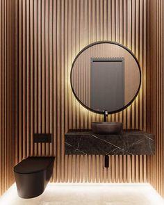 Best 35 Home Decor Ideas - Lovb Rustic Bathroom Designs, Bathroom Design Luxury, Home Room Design, Home Interior Design, Bathroom Feature Wall, Wc Design, Brick Paneling, Powder Room Design, Bathroom Design Inspiration