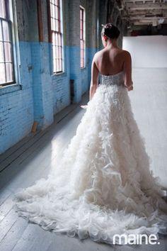 Lazaro wedding gown   photo :Brea McDonald