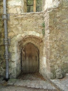Leeds Castle door, Kent, England, UK