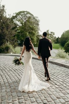 Intricate long-sleeve beaded Pronovias wedding dress  | Image by Kapsule Co.
