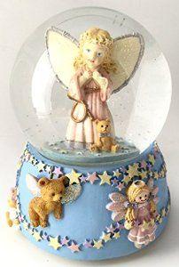 Amazon.com: Baby Guardian Angel Musical Snow Globe: Home & Kitchen