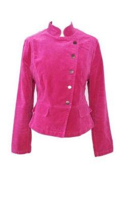 CS Sports roze velours army style jasje, maat L! Tante Twiggy Shop <3 www.marktplaats.nl/verkopers/20281615.html