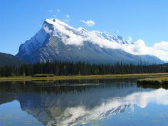 Mount Rundle from Vermillion Lakes area of Banff National Park