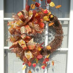 Check out this item in my Etsy shop https://www.etsy.com/listing/243660926/autumn-fall-wreath-harvest-wreath