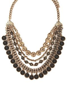 Geo-Shaped Statement Necklace - Forever 21
