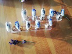 "Short Press-on nails ""ocean"" Short Press On Nails, Ocean, Stud Earrings, Etsy, Vintage, Jewelry, Craft Gifts, Schmuck, Jewlery"