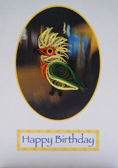 Quilled parrot card by Philippa Reid, via Flickr