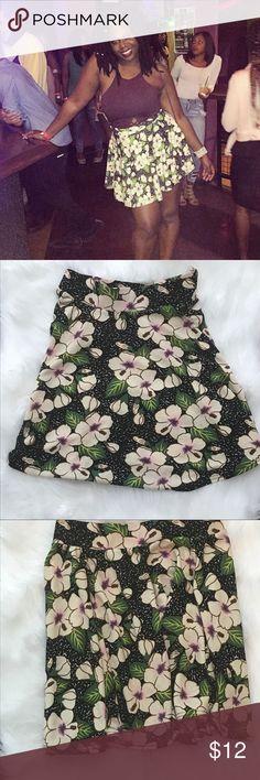 Cute Floral Skater Skirt Cute Floral Skater Skirt- Gently Used Skirts Circle & Skater