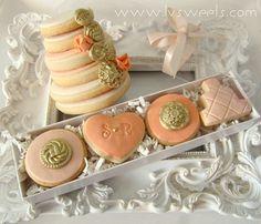 Vintage wedding cookies.