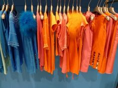 Add bright oranges, peaches and blue to your child's clothes.