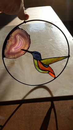 Stained Glass Ornaments, Stained Glass Birds, Stained Glass Designs, Stained Glass Projects, Stained Glass Patterns, Fused Glass, Glass Flowers, Tiffany, Diy And Crafts