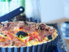 Grov og proteinrik middagspai Quiche, Mashed Potatoes, Nom Nom, Eat, Breakfast, Healthy, Ethnic Recipes, Inspire, Food
