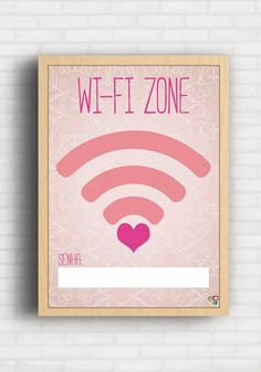 Poster Wi-fi Zone - Top Quadros TQ072