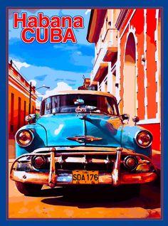 Art Deco Posters, Poster Prints, Havana Nights Party, Cuban Art, Ap Studio Art, Silhouette Clip Art, Advertising Poster, Vintage Travel Posters, Caribbean