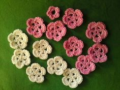 Five minute apple blossom and sakura pattern - CROCHET