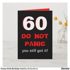 Funny 60th Birthday Card Cardsfunny Cardsgreeting Cardshappy