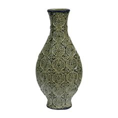 In the shape of ancient wine jar, this vase will steal the show in your house. This vase is in army green color and features lovely floral pattern. The jar i. Ceramic Decor, Ceramic Vase, Glass Floor Vase, Floor Vases, Bead Bottle, Mosaic Vase, Wood Vase, Vases Decor, Decorative Accessories