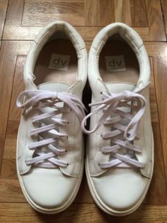 DV By Dolce Vita White Leather Saiki Sneaker size 8 from Nordstrom on sale via ebay