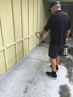 Spraying for roaches in home in Daytona Beach. If we don't fix your problem, your service is free! Call us today. (386) 957-1023  #pestcontrol
