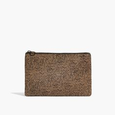 Madewell The Leather Pouch Clutch In Spotted Calf Hair Occasion Bagsleather