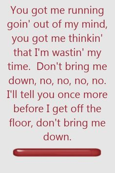 ELO _ Don't Bring Me Down - song lyrics, song quotes, songs, music lyrics, music quotes,