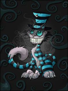 Cheshire Cat - Tim Burton by Evil-Hat on DeviantArt Cheshire Cat Tim Burton, Cheshire Cat Art, Cheshire Cat Tattoo, Chesire Cat, Tim Burton Style, Tim Burton Art, Tim Burton Personajes, Gato Alice, Tim Burton Characters