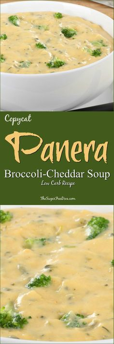 Copycat Panera Broccoli Cheddar Soup- Low Carb Recipe